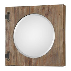 Uttermost - Uttermost 13825 Gualdo Aged Wood Mirror Cabinet - Uttermost 13825 Gualdo Aged Wood Mirror CabinetAged wood with a light ivory wash and rustic, olive bronze details. Hinged front opens to reveal a finished inside with two fixed shelves.Uttermost 13825 Features: