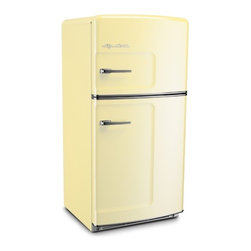 Big Chill - Big Chill Original 20.9 cu. ft. Top-Freezer Refrigerator - Yellow - The Big Chill Original Fridge in Buttercup Yellow has the retro style you want with the modern amenities you need. The look of this yellow fridge may be straight out of the 50s, but with its energy star rating, spacious 20.9 cu ft. interior, frostless temperature management, and a durable design that resists chips and dent, it is a Modern Made Classic. This Buttercup Yellow fridge adds retro style, and modern functionality to any kitchen decor.