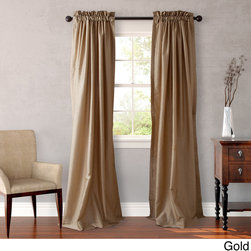 Heritage - Heritage Landing 108 inch Faux Silk Lined Drape Set - Heritage Landing Faux Silk 108 inch drapes will add drama and complete your room's decor. Drape panels are lined,are available in eight colors and are also available in 84 and 96 inch lengths.