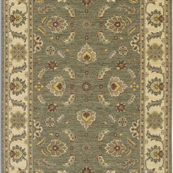 "Karastan - Karastan Sierra Mar 35505-33002 (Sedona Limestone) 2'5"" x 4' Rug - Comfortable, weathered, easy to live with color, is the signature style of the Sierra Mar collection, with relaxed patterns that complement both traditional and modern design. Woven in the U.S.A., the pure New Zealand worsted wool yarns have been specially twisted and space-dyed to create artful color 'stria' reminiscent of fine hand woven 'Peshawar' rugs."