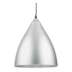 Matte Pendant in Gray - This pendant light adds a touch of modern sophistication wherever it hangs. We love the idea of hanging several of these pendants above your kitchen island or going solo above your breakfast table, in your foyer, or office.