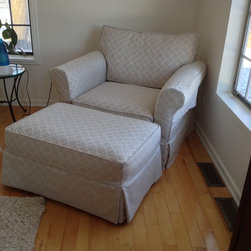 Matching Chair And Ottoman Slipcovers Slipcover Plus