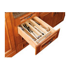 """Rev-A-Shelf - Rev-A-Shelf 4WUT-1SH Wood Utility Tray Insert - Tired of messy kitchen drawers? Frustrated at having to search long and hard whenever you need a serving spoon or other utensil? Looking to organize your cabinets with a minimum of fuss and hassle? This Wood Utility Tray Insert may be exactly what you need. This Wood Utensil Organizer for Drawers is a maple hardwood design. Just place it in an empty drawer, fill it up with your utensils and you're good to go. The Rev-a-Shelf 4WUT-1SH Tray Insert features a UV-cured clear finish to both make it look more stylish and prolong its durability. Additionally, the Tray Insert can be trimmed to fit any variety of kitchen drawers, which allows for a customized drop-in installation. Physical specifications: 18-1/2"""" W x 22"""" D x 2-3/8"""" H. Minimum Trim Size: 8-1/8"""" W and 17"""" D."""