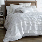 BELGRAVIA Duvet / Bedding Set - The BELGRAVIA duvet cover is contemporary and elegant with linen on one side, sateen on the other, and sophisticated, asymmetrical pleats.