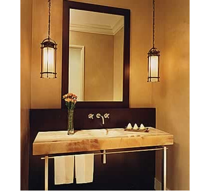 Traditional Powder Room by Jaffe Architectural Group