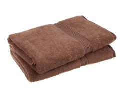 Superior 600GSM Egyptian Cotton 2-Piece Mocha Oversized Bath Towel Set - Superior Egyptian Cotton 2pc Mocha Oversized Bath Towel Set