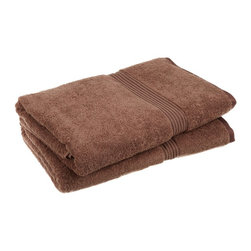 Superior 600GSM Egyptian Cotton 2-Piece Mocha Oversized Bath Towel Set - Superior Egyptian Cotton 2pc Mocha Oversized Bath Towel Set
