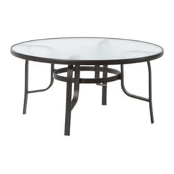 Alfresco Home Brandon 44 in. Round Chat Table - They say that good conversations always seem to come full circle, and that's certainly true when you gather around the Alfresco Home Brandon 44 in. Round Chat Table. Smaller than a dining table yet taller and more substantial than a cocktail table, this chat table is perfect for hosting a few friends while enjoying long circuitous discussions, reminiscing over times gone by or circling ideas without ever bothering to get to a point. Just the right sized for holding everyone's keys, phones, drinks, books, or whatever you carry outside with you, this table makes a wonderful central focal point to any conversation area. Designed to pair perfectly with Alfresco Home's Soiree spring based lounger, this table nonetheless has a traditional enough style and design that it beautifully compliments virtually any outdoor decor or lounge set. Its Cortado Brown frame produces a rich, handsome look that is complimented by its cool glass top, which is held securely in place by its capture rim, giving you a stable surface on which to set items. The extruded-aluminum construction offers a strong, durable design that is protected from the elements by its powder-coat finish.About Alfresco HomeOffering a wide selection of fashionable products, from casual furniture and garden lighting to permanent botanicals and seasonal decor, Alfresco Home casual living products offer a complete line of interior and exterior living furnishings and accents. Based out of King of Prussia, Penn., Alfresco Home continues to blend indoor and outdoor furniture to create a lifestyle of alfresco living inside and outside of the home. Inlaid mosaic tabletops, fine hardwood furnishings, artisan-inspired accents, premium silk botanicals, and all-weather wicker sets are just a few examples of the kind of treasures you'll find in Alfresco's specially designed collections.