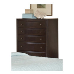 Coaster - Coaster Webster 6 Drawer Chest in Brown Maple Finish - Coaster - Chests - 202495