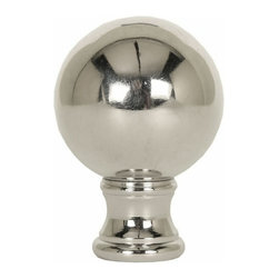 LampsUSA Finials - Polished Nickel Sphere Finial P3 - A new lamp finial is the perfect way to complete your new or favorite lamp. All finials have a standard 1/4-27 thread--which will fit the harp on almost every lamp.