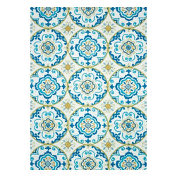 Loloi Rugs - Loloi Rugs Juliana Ivory-Blue Transitional Hand Hooked Rug X-6563BBVI03-LJILUJ - Breathe casual elegance and flirty fun into any room of your house with the hand-hooked Juliana Collection. Handmade in China of 100-percent polyester, the intricate, high/low texture of these unique rugs is achieved with a mix of petit-point and bolder hooks. Juliana's eye-catching designs feature a selection of transitional florals and stripe patterns that wear a decidedly happy palette. With texture this bold and colors this fun, you will smile every time you walk into your home.