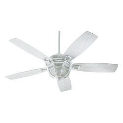 "Quorum - White 52"" Indoor/Outdoor Patio Ceiling Fan With Light Kit - Width: 52"""