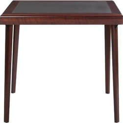 Cosco Folding Table, Mahogany Finish - Folding tables don't have to look, well, like folding tables. This is a beautiful way to make room for more guests without compromising on style.