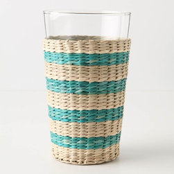 Sea Grass Striped Tumbler - If I had an outdoor space, I would scoop up a set of these sea grass tumblers for summer entertaining. The striped sea grass sleeves add a beachy charm to the table.