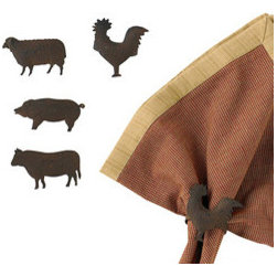 Farm Market Napkin Rings Set - Surprise your family every so often by pulling out some cloth napkins and napkin rings. Everyone is sure to enjoy these barnyard cuties.