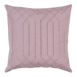 """Kathy Kuo Home - Jillian Hollywood Regency Linen Down Pink Pillow - 20"""" x 20"""" - * 20 inches high x 20 inches wide"""