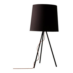 """Martinelli Luce - Martinelli Luce Eva Large Table Lamp - The Eva Large Table Lamp by Martinelli Luce has been designed by Emiliana Martinelli. Table lamp wiht diffused lightand indirecct light. Structure in brushed aluminium or painted in black. Available with fabric shade in black or white or shades with brushed aluminium or painted in black. Feeding cable in red with dimmer. Designed by Emiliana Martinelli in 2007, Eva reproposes the conventional lamp with shade in a modern and technological version and also in the metal version. A simple form that inspires peace, thought both for a classic and modern furnishing.   Product description:  The Eva Large Table Lamp by Martinelli Luce has been designed by Emiliana Martinelli. Table lamp wiht diffused lightand indirecct light. Structure in brushed aluminium or painted in black. Available with fabric shade in black or white or shades with brushed aluminium or painted in black. Feeding cable in red with dimmer. Designed by Emiliana Martinelli in 2007, Eva reproposes the conventional lamp with shade in a modern and technological version and also in the metal version. A simple form that inspires peace, thought both for a classic and modern furnishing.   Details:      Manufacturer:     Martinelli Luce      Designer:    Emiliana Martinelli      Made in:    Italy      Dimensions:     Height: 26.77"""" (68 cm) X Diameter: 15.75"""" (40 cm)        Light bulb:     1 X E27 Max 100W Halogen        Material:     Aluminium, Febric"""