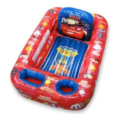 Disney Baby - Ginsey Disney/Pixar CARS Inflatable Bathtub - This inflatable bathtub is so cute that your child may actually look forward to bath time! It's equipped with all the bathing basics and has plenty of storage pockets so parents can wash more and worry less.
