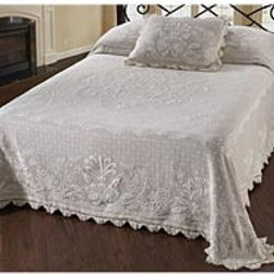 Queen USA-Made Abigail Adams 100% Cotton Matelasse Textured Bedspread - Plow & Hearth
