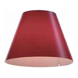 Luce Plan USA - Costanzina Shade - Costanza shade is available in white, blue, red and black. For use with Costanza fixtures (sold separately). 16 inch diameter x 11 inch height.