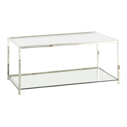 Convenience Concepts - Convenience Concepts Palm Beach Glass Coffee Table in Bamboo - Convenience Concepts - Coffee Tables - 131382BB - The Palm Beach collection from Convenience Concepts brings the urban design and multi-function use. Featuring removable/reversible wood tray that can be used as a flat surface or as serving tray.