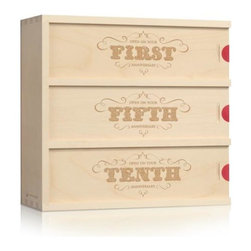 Flourish Anniversary Wine Box - This beautifully designed anniversary wine box is the gift that keeps on giving!