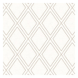 Gray Stitched Diamond Trellis Fabric - Subtle gray & white embroidered trellis is as beautiful and classic as a perfecly diamond.Recover your chair. Upholster a wall. Create a framed piece of art. Sew your own home accent. Whatever your decorating project, Loom's gorgeous, designer fabrics by the yard are up to the challenge!