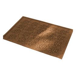 Bungalow Flooring - 24 in. L x 36 in. W Dark Brown Waterguard Tropical Fish Mat - Made to order. Fun fish design traps dirt, resists fading, rot and mildew. Indoor and outdoor use. 24 in. L x 36 in. W x 0.5 in. H