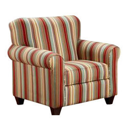 Chelsea Home Furniture - Chelsea Home Essex Accent Chair Upholstered in Casheral Garnet - Essex Accent Chair Upholstered in Casheral Garnet belongs to Verona VI collection by Chelsea Home Furniture.