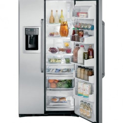 GE Cafe - CZS25TSESS ADA Compliant 24.6 Cu. Ft. Counter-Depth Side By Side Refrigerator wi - This item is for a GE Cafe Series 246 Cu Ft Counter-Depth Side-by-Side Refrigerator This item features a counter-depth configurationwhich creates the look of a built-in without the added expense express Chill which allows you to chill your favorite b...