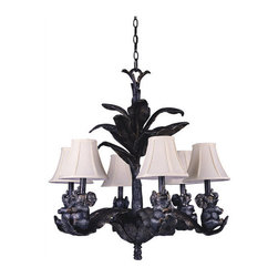 Triarch International - Triarch International 31333 Elephant 6 Light 1 Tier Chandelier - Features: