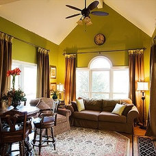 Eclectic Family Room by Suzanna Ivey Design