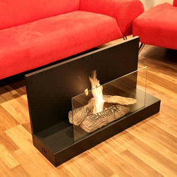 None - Vertigo Bio Ethanol Fireplace - Have you always wanted a soft and warming atmosphere in your bedroom? Try this ceramic bioethanol fireplace, which is ideal for creating ambience without installation or smoke. Its slim design would look great among contemporary decor.
