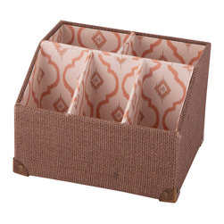Enchante Accessories Inc - Raymond Waites Dark Burlap 5 Section Letter Sorter - Home Office Desk Top Designer Organizer CollectionPrinted Fabric with Decorative DesignsTextured Fabric Base Part of the Raymond Waites Home & Design CollectionUse as a table top organizer or in draw sectional trayThe Raymond Waites Collection of home office organizers featuredesigner printed fabrics and is perfect decorative organizer to hold your paperwork and office supplies. Use in your home office to keep your desk in order.