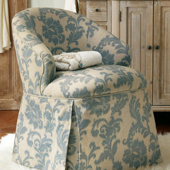 Josephine Damask Vanity Chair