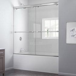 "DreamLine - DreamLine DL-6997-04CL Charisma Tub Door & Backwalls - DreamLine Charisma 56 to 60"" Frameless Bypass Sliding Tub Door and QWALL-Tub Backwall Kit"