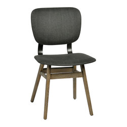 Habitat Home & Garden - Hallman Dining Chair - The Hallman Dining Chair features a solid oak frame with steal back support. The heavy linen, charcoal colored back and seat upholstery will compliment many homes and styles.