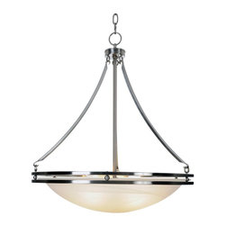 Premier - Five Light Contemporary 21 feet Chandelier Light - Brushed Nickel - Premier 617601 Contemporary Lighting Collection Chandelier, Brushed Nickel, 20-5/8in. W by 23-1/2in. H.