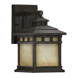 Quorum International - Quorum International 7360 Single Light Small Outdoor Wall Sconce from the Denmar - Single Light Small Outdoor Wall Sconce from the Denmark CollectionFeatures: