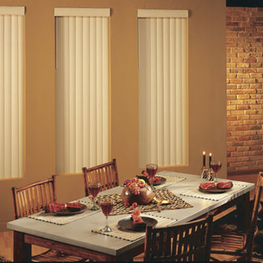 BlindSaver Advantage Vinyl Vertical Blinds - Are you looking for great style at a great price? BlindSaver's Advantage Vinyl Vertical Blinds are a great choice for large windows and patio doors. With an unbeatable selection of materials and colors, BlindSaver Advantage Vertical Blinds are sure to fit in any home.