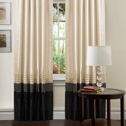 Lush Decor - Lush Decor Mia 84-inch Curtain Panel Pair - This contemporary,faux-silk curtain panel is the perfect addition to any modern family or living room. The panels go all the way to the floor for an elegant look and maximum privacy protection and limit sunlight when they are pulled together.