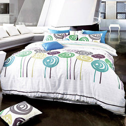 820-Thread-Count Lollipop Full Duvet Cover Set -