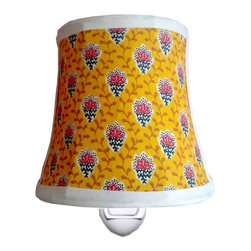 Charn&Co. - Fleur Jaune Nightlight - Fleur Jaune Nightlight with unique decorative shade complete with bulb and ready to go.