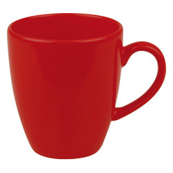 Waechtersbach - Set of 4 Jumbo Cafelatte Cups Fun Factory Red - Make mornings lively with these Fun Factory Red Jumbo Cafelatte Cups. Available in a variety of bold hues, these tall mugs are a must-have for every tea or coffee lover.