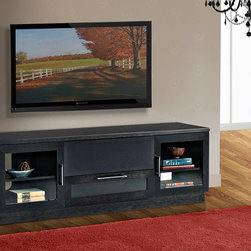 "FURNITECH - FURNITECH - MODEL FT72CCEB - 70"" Contemporary TV Media Console for Flat Screen and Audio Video Installations"