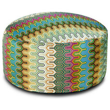 Eclectic Floor Pillows And Poufs by Urbanspace Interiors