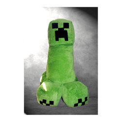 Unofficial Minecraft-Inspired Plush Creeper Body Pillow by Thee Crafting Table - It's a body pillow. It's a toy. It's an absolutely incredible addition to any Minecraft-themed bedroom! This is one Creeper you can't wait to snuggle up to.