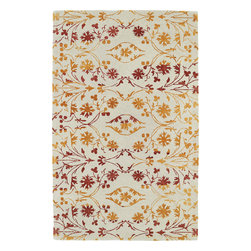 Kaleen - Kaleen Divine DIV05 (Fire) 8' x 11' Rug - This Hand Tufted rug would make a great addition to any room in the house. The plush feel and durability of this rug will make it a must for your home. Free Shipping - Quick Delivery - Satisfaction Guaranteed