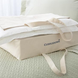 Cotton Canvas Zippered Storage Bag - These zippered canvas bags are a great way to sneak some extra storage under your bed and keep your out-of-season clothing or extra bedding stashed away.