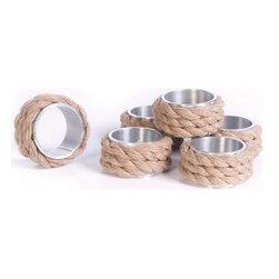 Go Home Ltd - Go Home Ltd Coastal Napkin Rings (2 sets / order) X-89231 - Go Home Ltd Coastal Napkin Rings (2 sets / order) X-89231